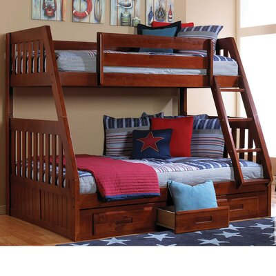 Stanford Twin Over Full Bunk Bed with Storage Finish: Merlot