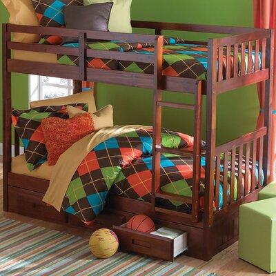 Braeburn Twin over Twin Bunk Bed Finish: Merlot