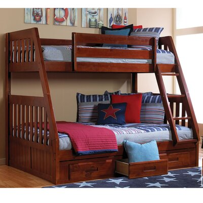 Stanford Twin Over Full Bunk Bed with Twin Slide-out Trundle Finish: Merlot
