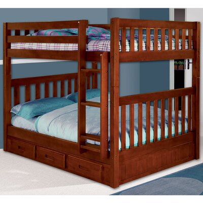 Parkview Full-over-Full with Twin Slide-out Trundle Finish: Merlot