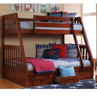 Stanford Twin Over Full Bunk Bed Finish: Merlot