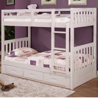 Braeburn Twin over Twin Bunk Bed Color: White