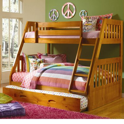 Stanford Twin Over Full Bunk Bed Finish: Honey