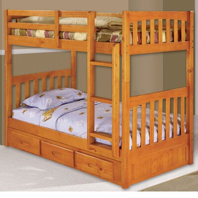Braeburn Twin over Twin Bunk Bed Finish: Honey