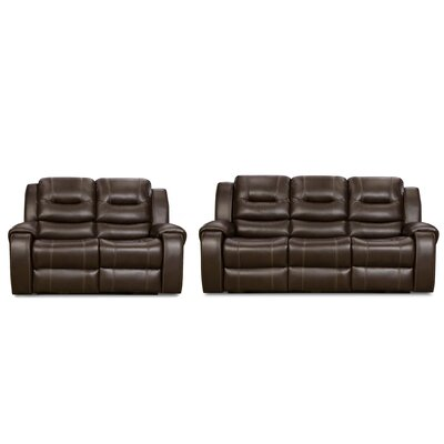 Daigre 2 Piece Living Room Set Upholstery: Cocoa Brown
