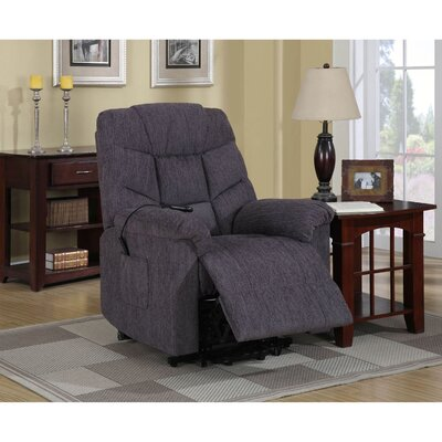 Dillow Power Lift Assist Recliner Upholstery: Blue