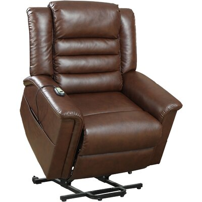 Dahms Power Lift Assist Recliner Upholstery: Chocolate