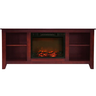 Brook Hollow Electric Fireplace TV Stand Finish: Cherry