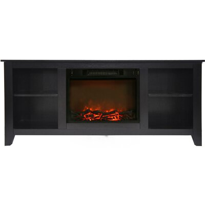Brook Hollow Electric Fireplace TV Stand Finish: Black Coffee