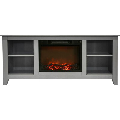 Brook Hollow Electric Fireplace TV Stand Finish: Gray