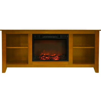 Brook Hollow Electric Fireplace TV Stand Finish: Teak