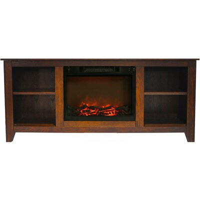 Brook Hollow Electric Fireplace TV Stand Finish: Walnut