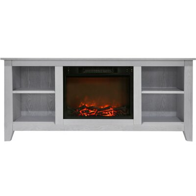 Brook Hollow Electric Fireplace TV Stand Finish: White