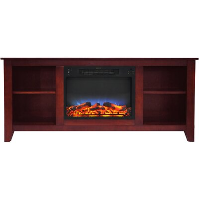 Brook Hollow LED Electric Fireplace TV Stand Finish: Cherry