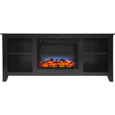Brook Hollow LED Electric Fireplace TV Stand Finish: Black Coffee