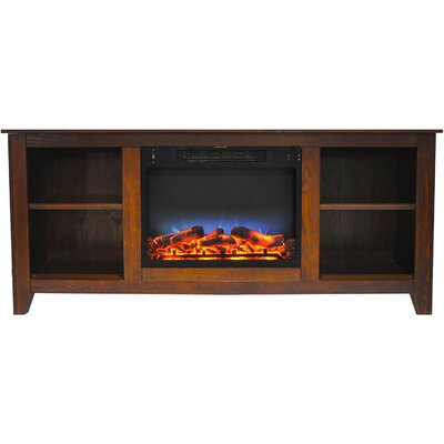 Brook Hollow LED Electric Fireplace TV Stand Finish: Walnut