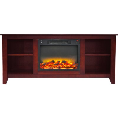 Brook Hollow Modern Fireplace TV Stand Finish: Cherry