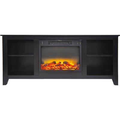 Brook Hollow Modern Fireplace TV Stand Finish: Black Coffee