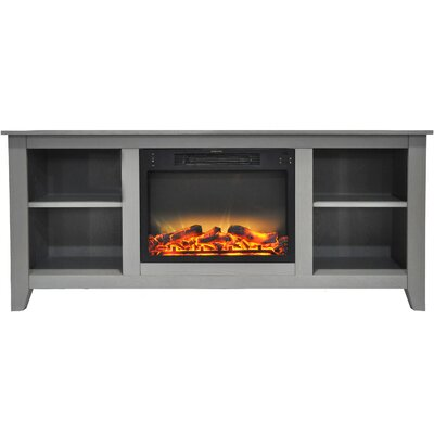 Brook Hollow Modern Fireplace TV Stand Finish: Gray