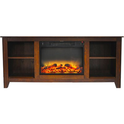 Brook Hollow Modern Fireplace TV Stand Finish: Walnut