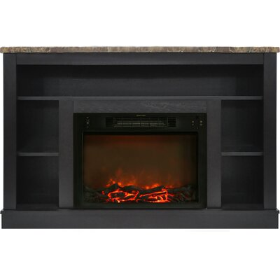 Eudora Electric Fireplace TV Stand Finish: Black Coffee