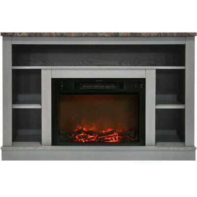 Eudora Electric Fireplace TV Stand Finish: Gray