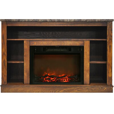 Eudora Electric Fireplace TV Stand Finish: Walnut