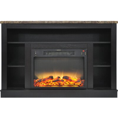 Eudora Modern Electric Fireplace TV Stand Finish: Black Coffee
