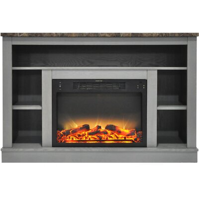 Eudora Modern Electric Fireplace TV Stand Finish: Gray