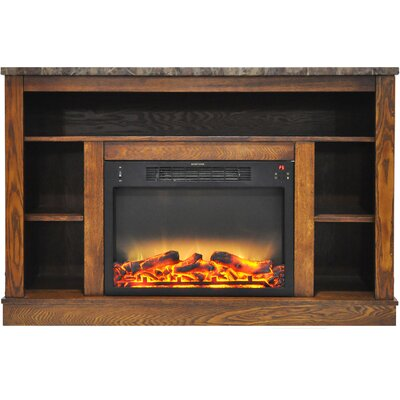 Eudora Modern Electric Fireplace TV Stand Finish: Walnut