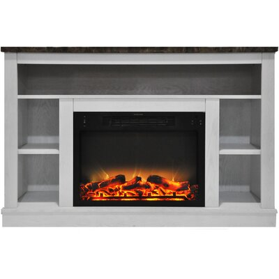 Eudora Modern Electric Fireplace TV Stand Finish: White