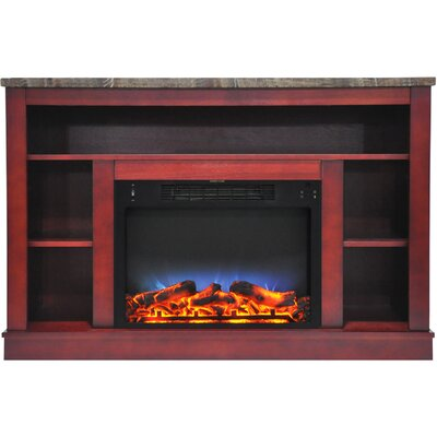 Eudora LED Electric Fireplace TV Stand Finish: Cherry