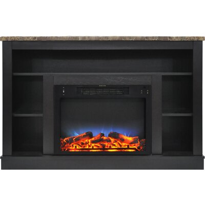 Eudora LED Electric Fireplace TV Stand Finish: Black Coffee