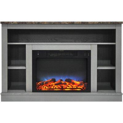 Eudora LED Electric Fireplace TV Stand Finish: Gray