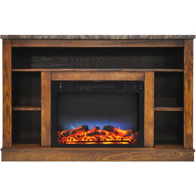 Eudora LED Electric Fireplace TV Stand Finish: Walnut