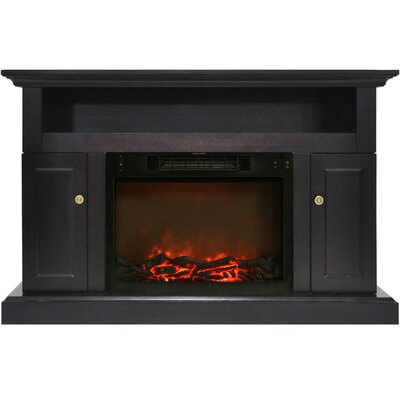Broncho Electric Fireplace TV Stand Finish: Black Coffee