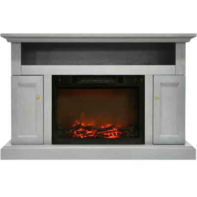 Broncho Electric Fireplace TV Stand Finish: Gray