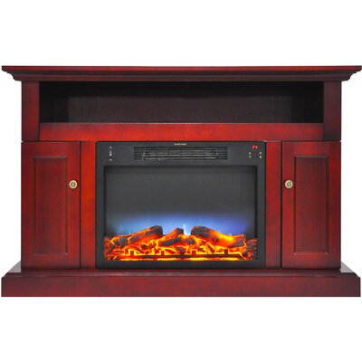 Broncho Modern Electric Fireplace TV Stand Finish: Cherry