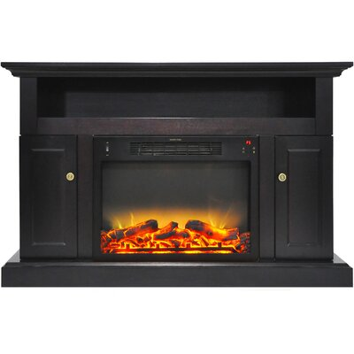 Broncho Modern Electric Fireplace TV Stand Finish: Black Coffee