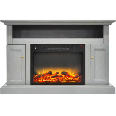 Broncho Modern Electric Fireplace TV Stand Finish: Gray