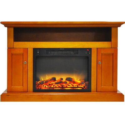Broncho Modern Electric Fireplace TV Stand Finish: Teak