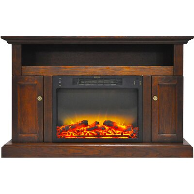 Broncho Modern Electric Fireplace TV Stand Finish: Walnut