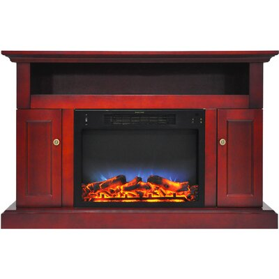 Broncho 48 TV Stand with LED Fireplace Finish: Cherry