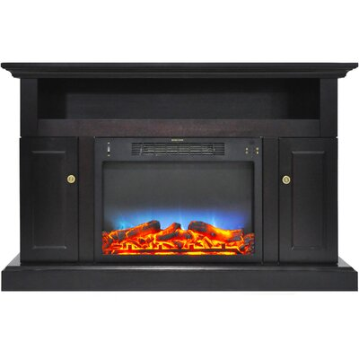Broncho 48 TV Stand with LED Fireplace Finish: Black Coffee
