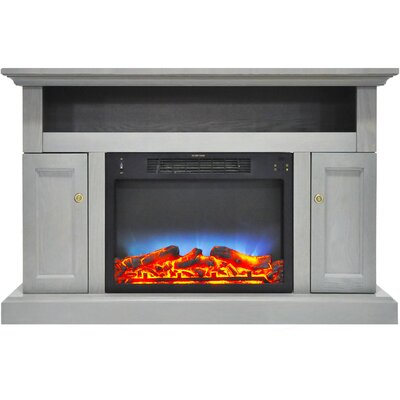 Broncho 48 TV Stand with LED Fireplace Finish: Gray
