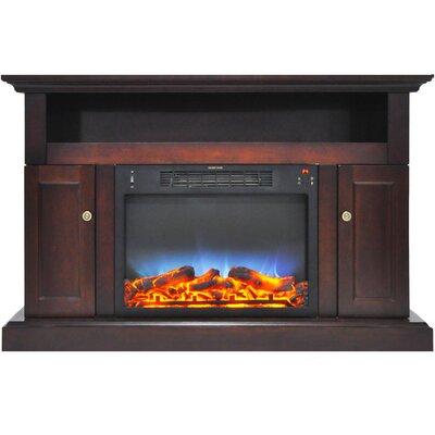 Broncho 48 TV Stand with LED Fireplace Finish: Mahogany