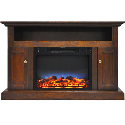 Broncho 48 TV Stand with LED Fireplace Finish: Walnut