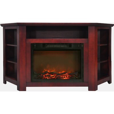 Cesar Modern TV Stand with Electric Fireplace Finish: Cherry