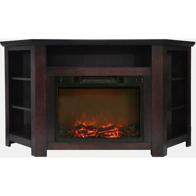 Cesar Modern TV Stand with Electric Fireplace Finish: Mahogany