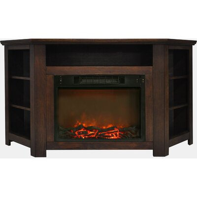 Cesar Modern TV Stand with Electric Fireplace Finish: Walnut